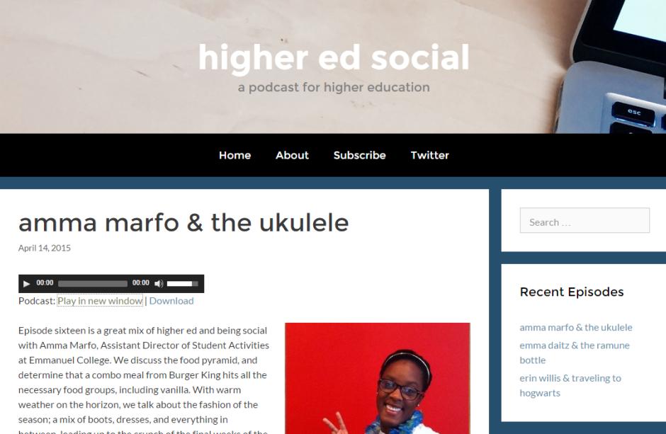 higher ed social podcast