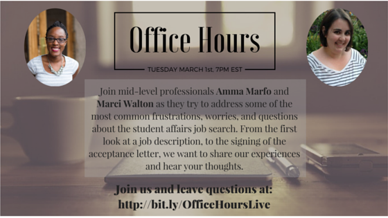 Office Hours Are Open!