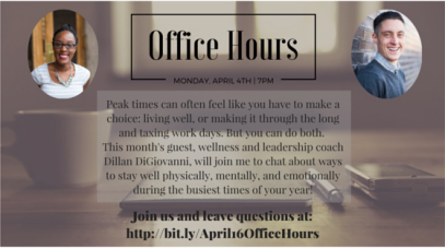 April 16 Office Hours