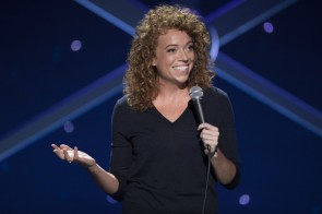 "Michelle Wolf, Nice Lady (HBO): near the end of Wolf's debut hour, she relates a story about dating a trainer from her gym and the resulting text thread. She has an audience member check her phone to confirm the texts are real; I played that role at a Providence show. Like the texts, Wolf's show is refreshingly real about the uncomfortable parts of womanhood. Shrill voices, the grossness of balls, and needing to be ""nice"" are all fair game with Wolf's trademark perspective. When I talked with her for the IBang ahead of the special's release, she mentioned her goal was to share things that men normally talk about from a female perspective. That viewpoint was welcome, and resulted in one of my favorite specials of the year."