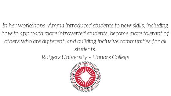 2019 Rutgers Testimonial