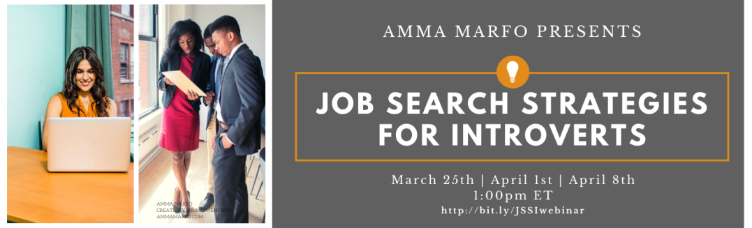 Job Search Strategies for Introverts Webinar Banner