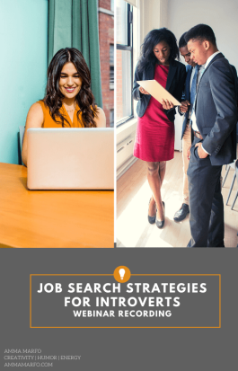 Job Search Strategies for Introverts Webinar Web Image